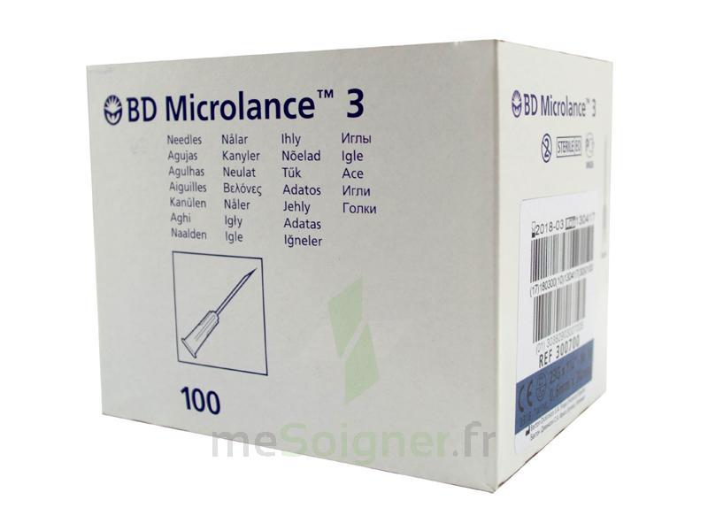 BD MICROLANCE 3, G23 1, 0,6 mm x 25 mm, bleu