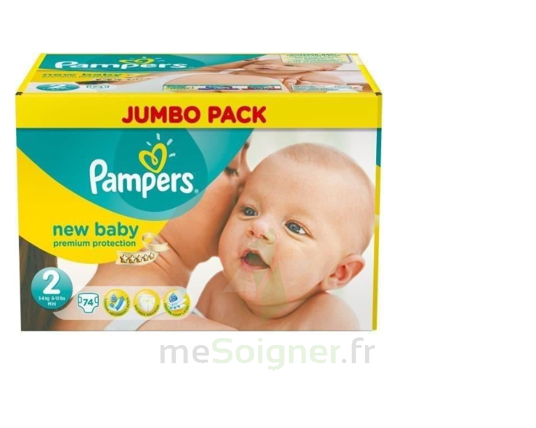 Mesoigner Parapharmacie Pampers New Baby T2 Jumbo Pack 70 Couches